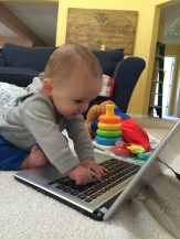 baby thor on the computer.jpg