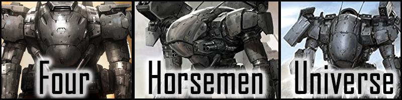 four horseman banner
